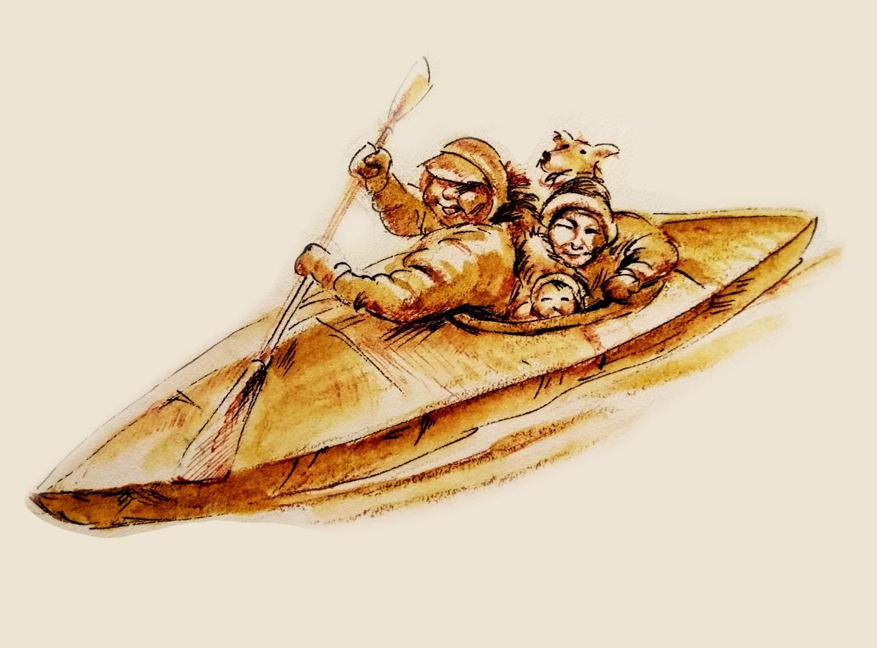 Каяк, весло и дальше на север